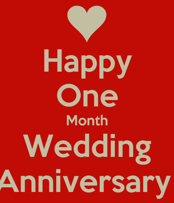 Happy One Month Wedding Anniversary Poster