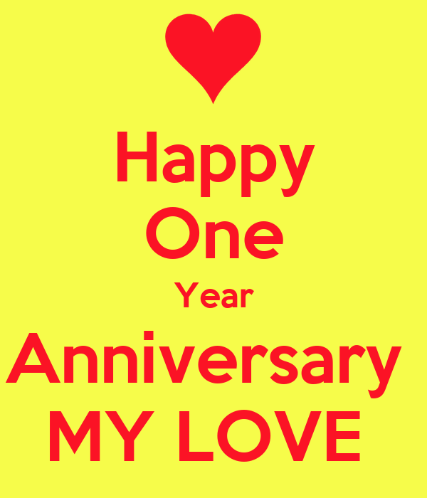 Happy one year anniversary my love poster alex keep