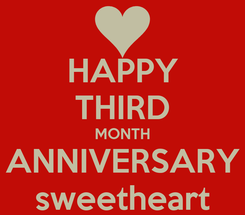 Third month anniversary quotes