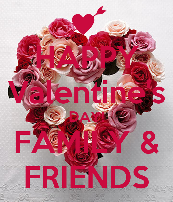 Happy Valentine 39 S Day Family Friends Poster Lee