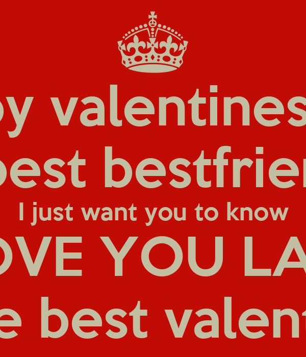Happy Valentines Day To The Best Bestfriend Ever I Just Want You To Know I  LOVE