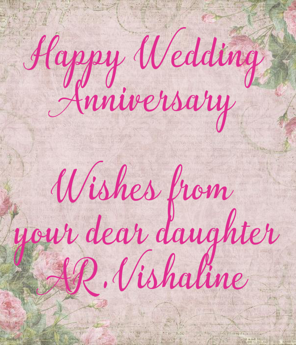 Happy Wedding Anniversary Wishes From Your Dear Daughter