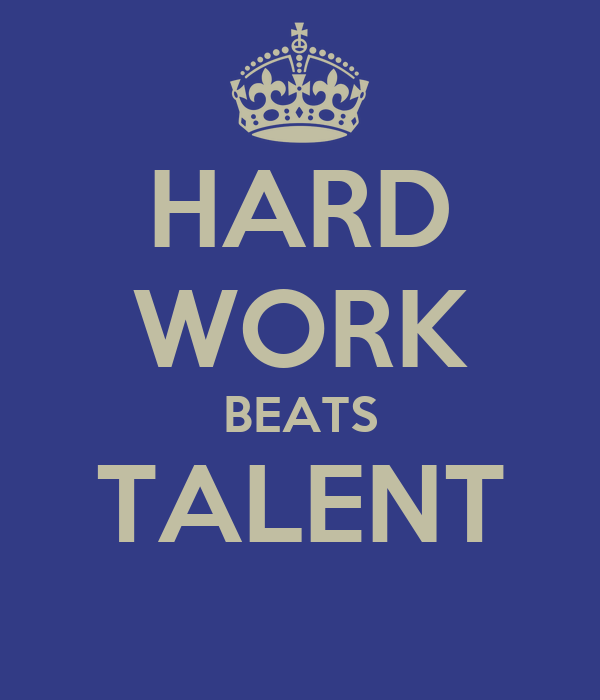 hard work not talent Amazoncom : hard work beats talent when talent doesn't work hard 18 x 24 poster (blue/white/black) : sports & outdoors.