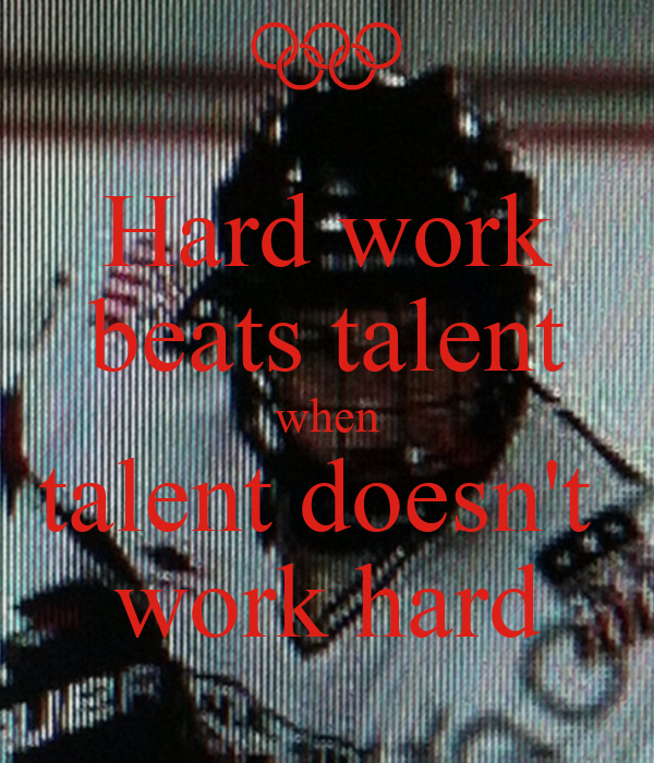 why hard work beats talent when talent doesnt work hard Jimmye absood - google+ press question mark to see available shortcut keys.