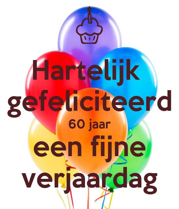 Verwonderlijk Hartelijk gefeliciteerd 60 jaar een fijne verjaardag Poster AE-55