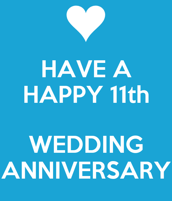 HAVE A HAPPY 11th WEDDING ANNIVERSARY Poster