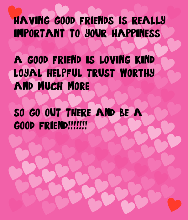 importance of having a good friend