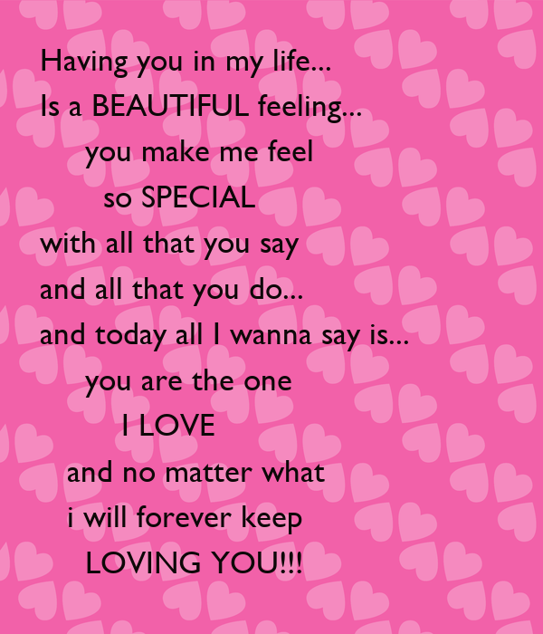Picture suggestion for you are so special to me poem for What make a beautiful