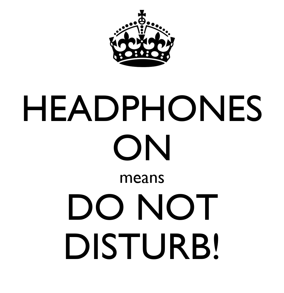 Image result for headphones do not disturb