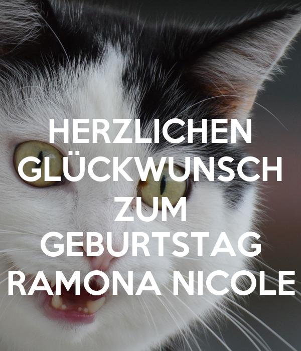 Herzlichen Gluckwunsch Zum Geburtstag Ramona Nicole Poster