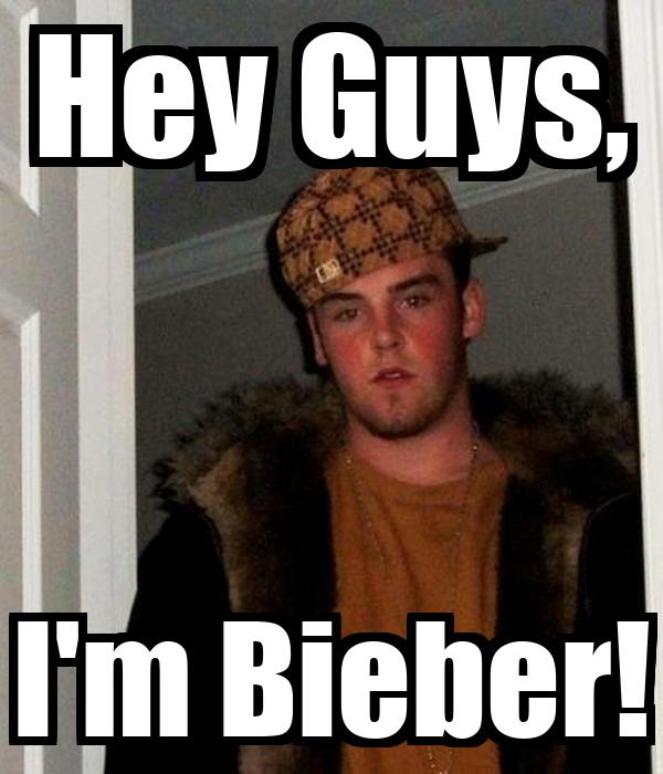 Hey Guys, I'm Bieber! Poster | Mr Dobre | Keep Calm-o-Matic