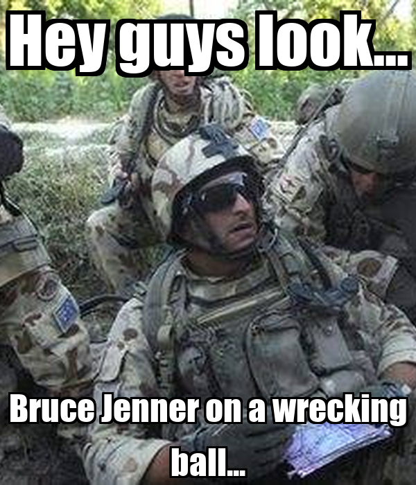 Hey guys look... Bruce Jenner on a wrecking ball... Poster ...