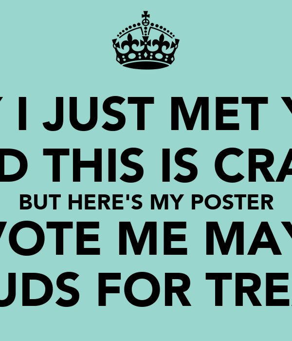 Is crazy but here s my poster so vote me maybe zchauds for treasurer