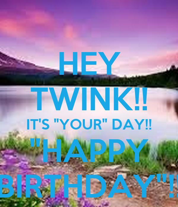 Birthday twink