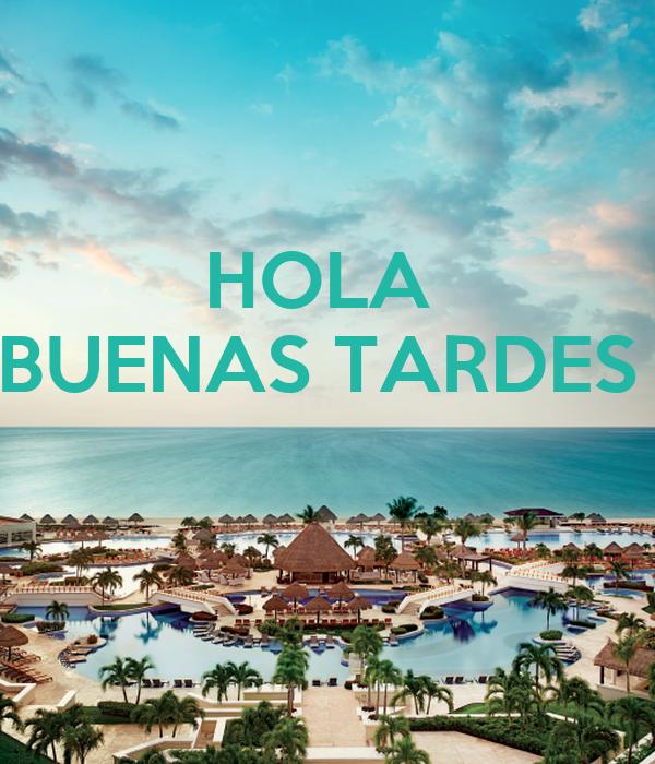 Hola Buenas Tardes Poster Retret5e Keep Calm O Matic