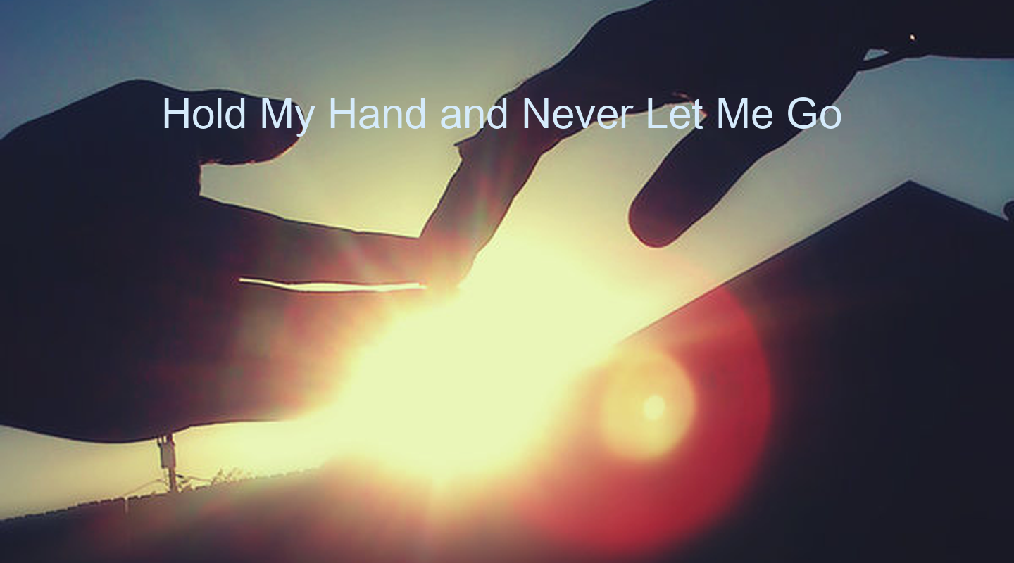 Please Hold my Hand Hold my Hand And Never Let me
