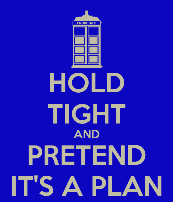 HOLD TIGHT AND PRETEND IT'S A PLAN Poster | Jay Hinkelman | Keep ...