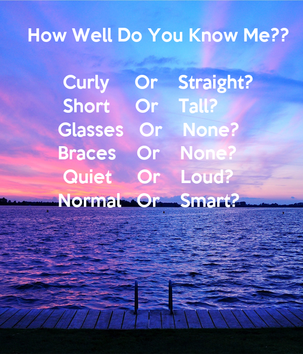 How Well Do You Know Me?? Curly Or Straight? Poster