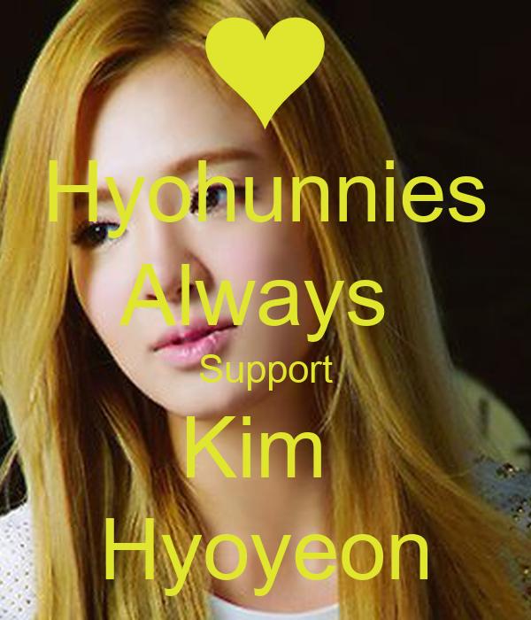 Hyohunnies Always Support Kim Hyoyeon - KEEP CALM AND ...  Hyohunnies Alwa...