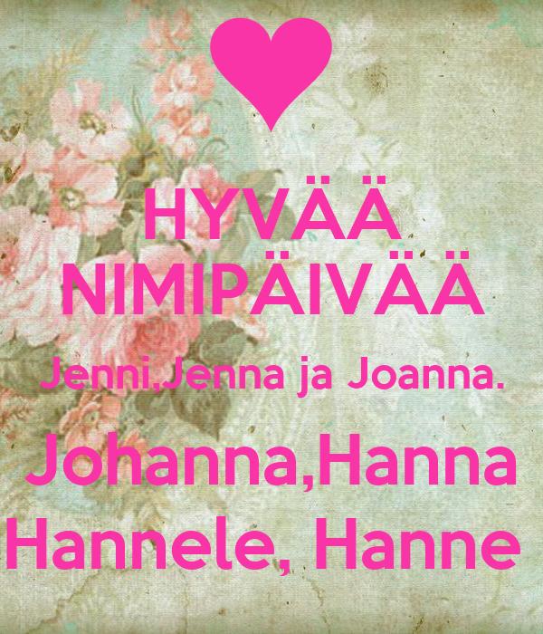 Joanna nimipäivä
