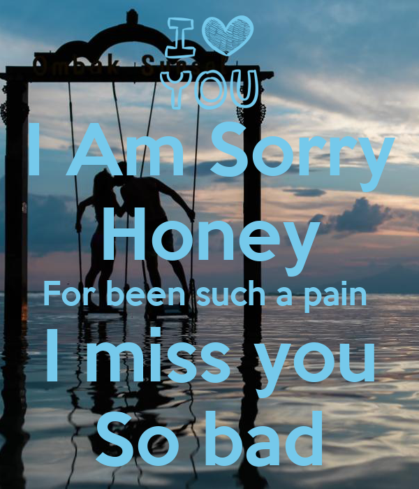 I Am Sorry Honey For Been Such A Pain I Miss You So Bad Poster
