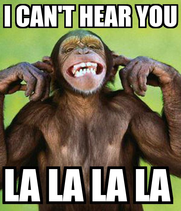 Image result for la la la i can't hear you
