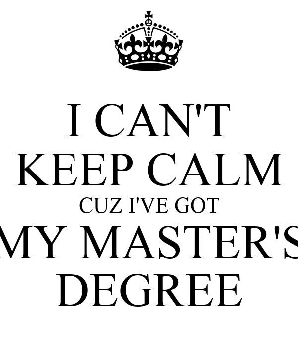 What should I get my Master's Degree in?