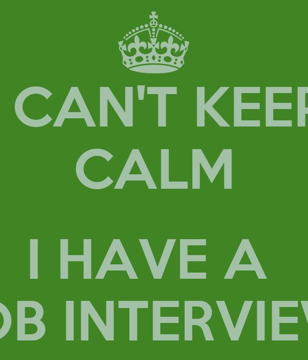 i have a job interview