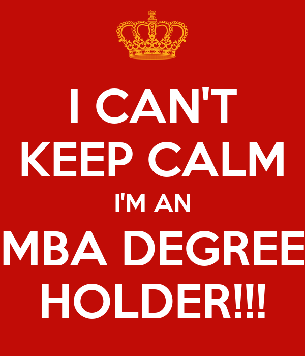 I'm applying for an MBA...?