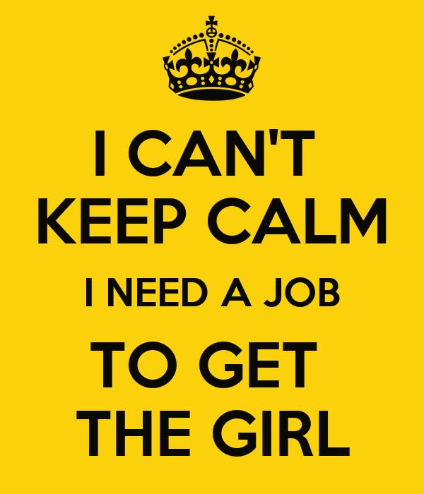 i cant get a job