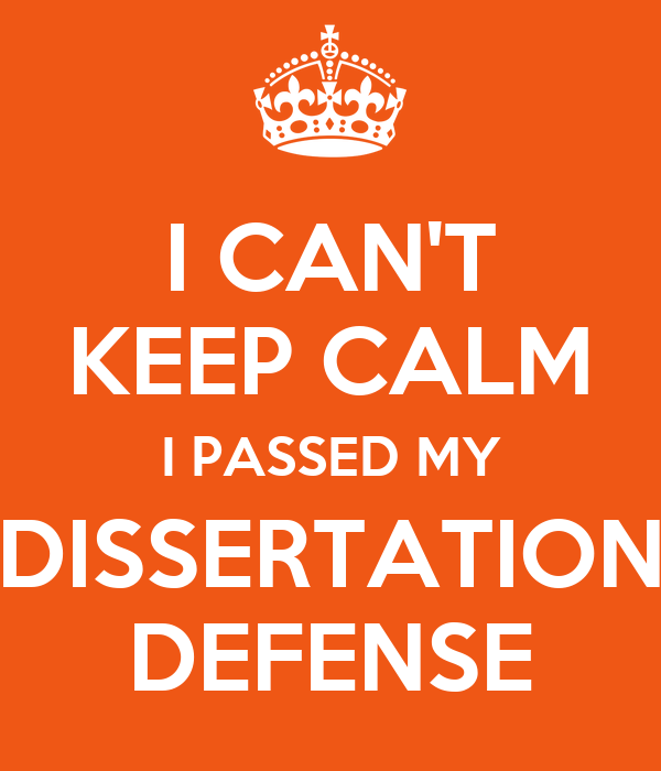 Dissertation defense hints