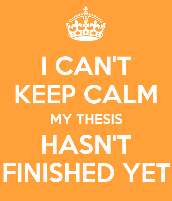 Cant complete masters thesis