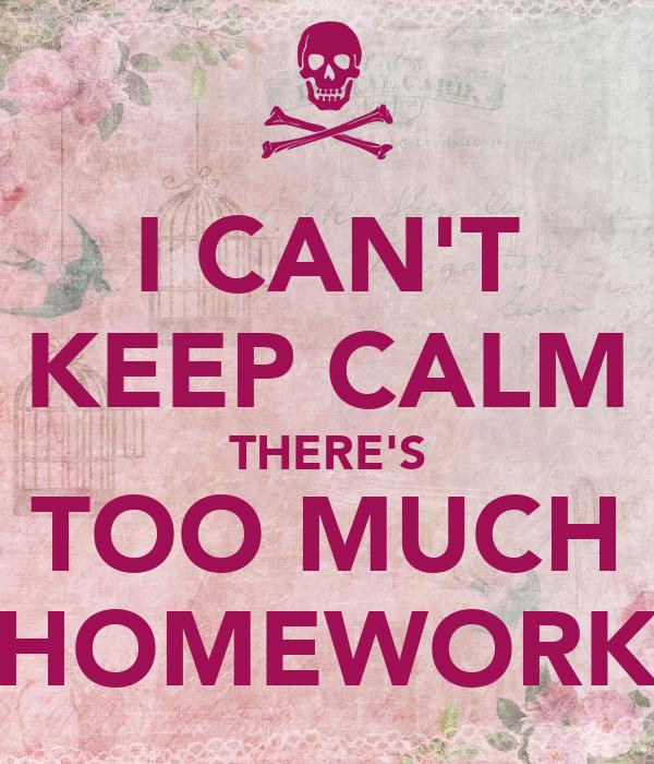 My homework takes too long