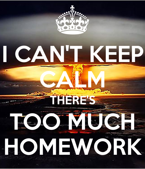 I have too much homework