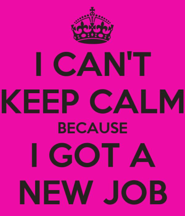 Got a new job at the prestigious company
