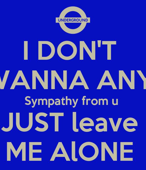I DON'T WANNA ANY Symp...