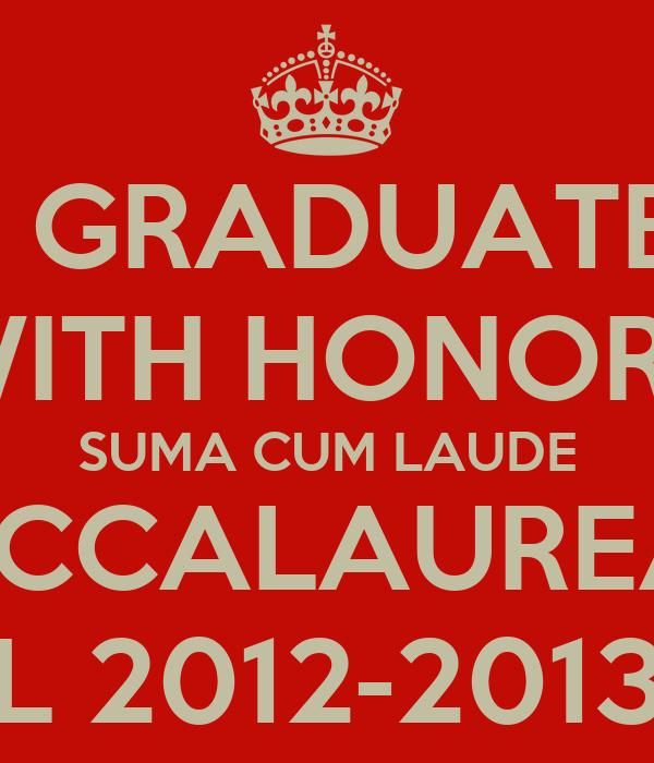 Graduate Suma Cum Laude 19