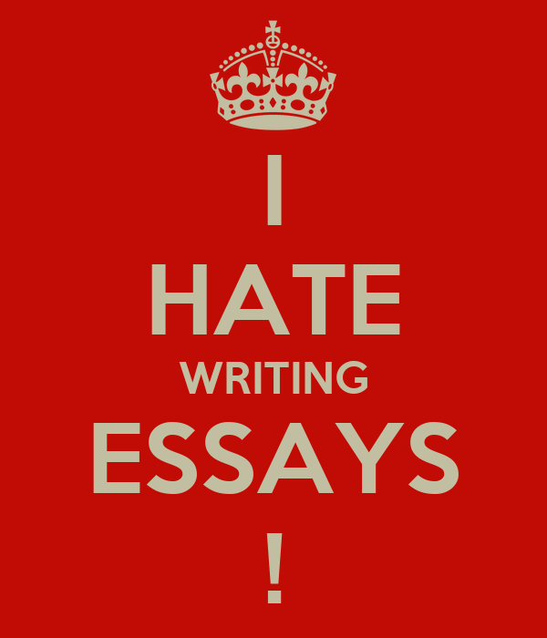 I suck at writing essays