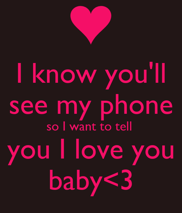 you know i love you so and so