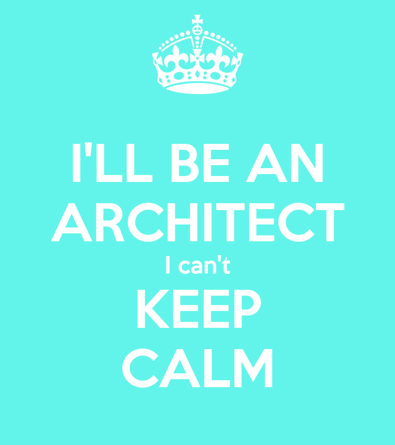 i 39 ll be an architect i can 39 t keep calm keep calm and