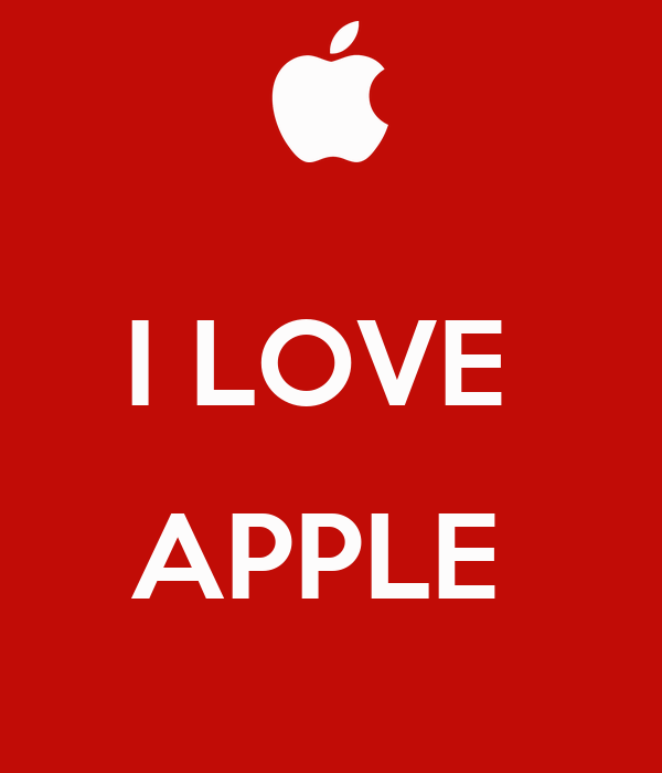 i love apple poster joii keep calm o matic