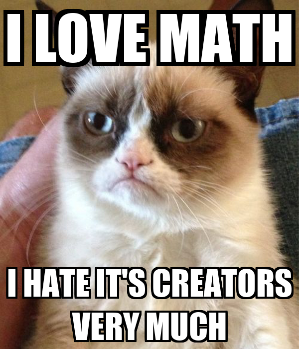 I LOVE MATH I HATE IT'S CREATORS VERY MUCH Poster | Yestin ...