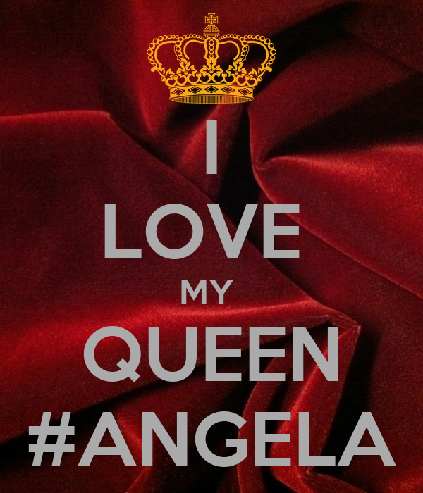 Citaten Love Queen : I love my queen angela poster christian keep calm o matic