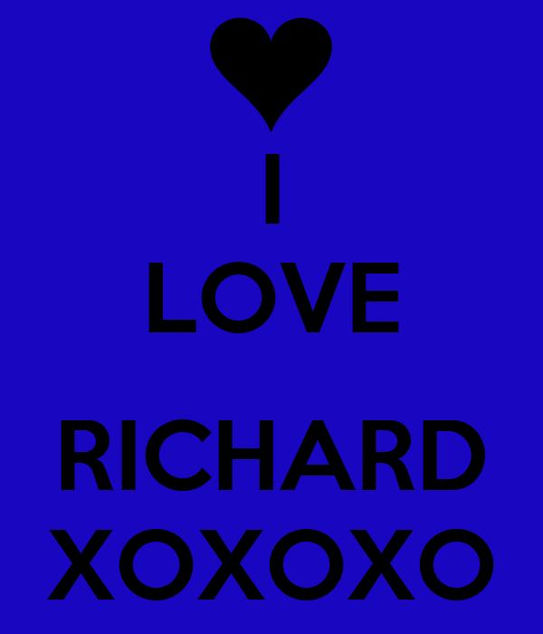 I LOVE RICHARD XOXOXO Poster | NATALIE | Keep Calm-o-Matic