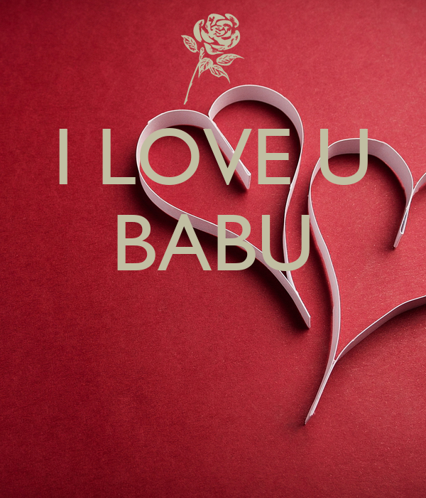 Image Of I Love You Babu Wallpaper Images
