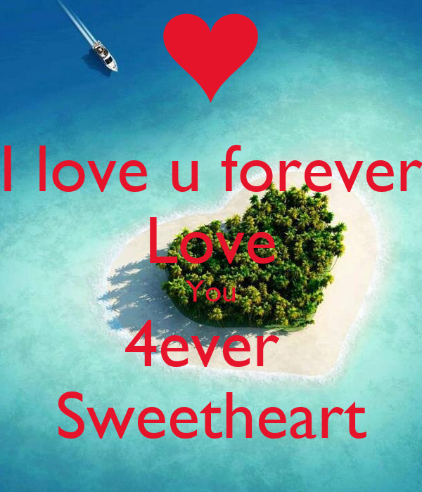 love u forever Love You 4ever Sweetheart Poster | Mrunali | Keep ...