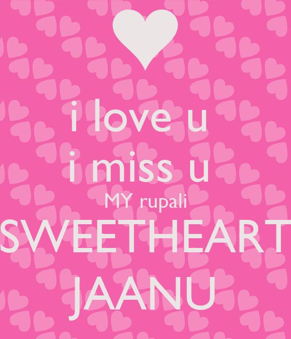 i love u i miss u my rupali sweetheart jaanu poster lucky keep