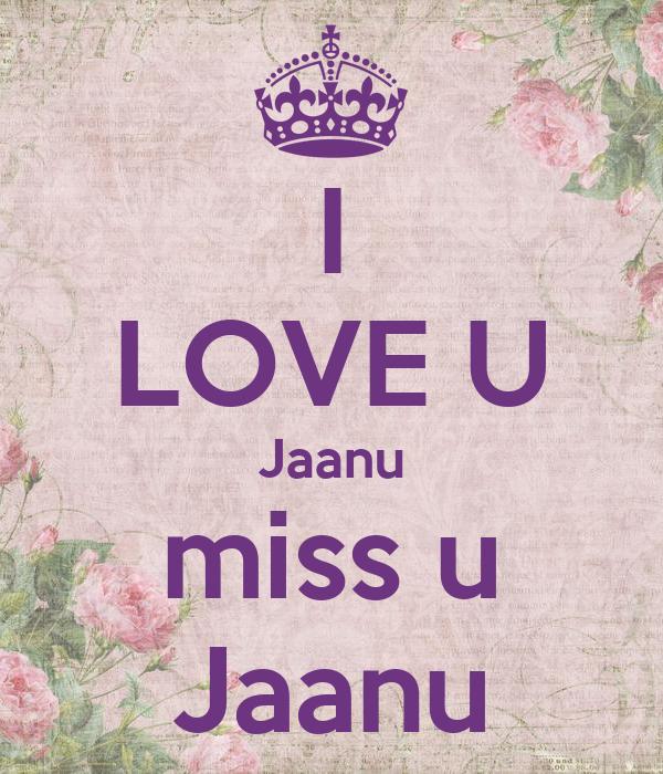 I Love U Jaanu Miss U Jaanu Poster Rashi Keep Calm O Matic