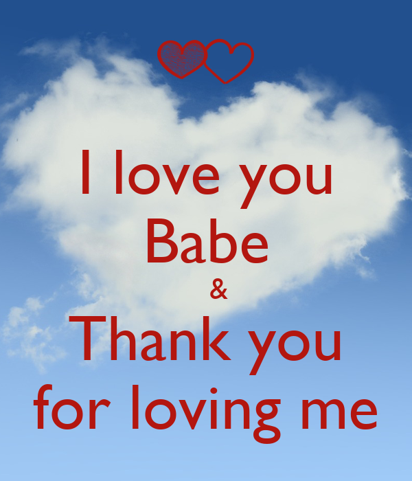 Love thanks you i I Said