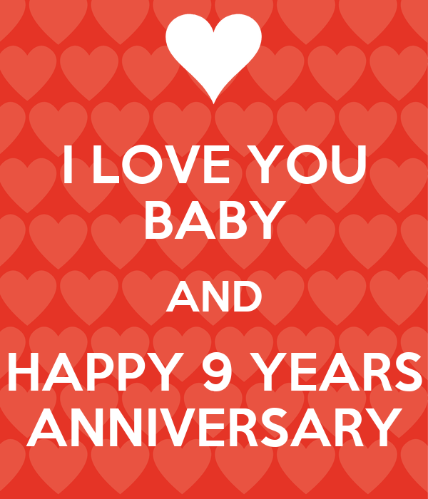 I love you baby and happy years anniversary poster